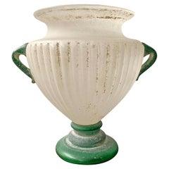 Grande Italian Murano Scavo Vase