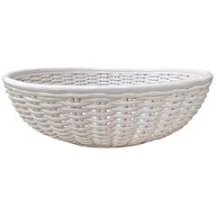 Grande Italian Woven Porcelain Bowl