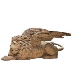 Grande Leone Africa Wood Sculpture