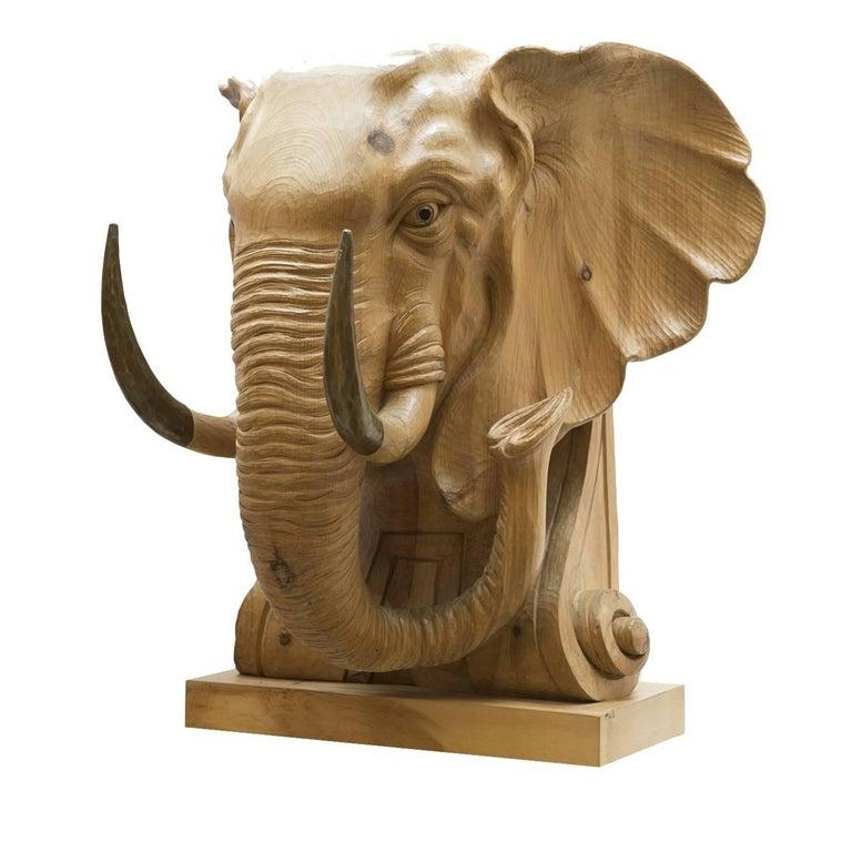 Elefante il Magnifico Wood Sculpture