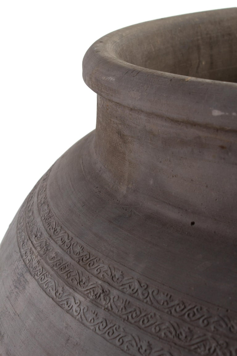 Belgian Grande Terracotta Planter Vase For Sale
