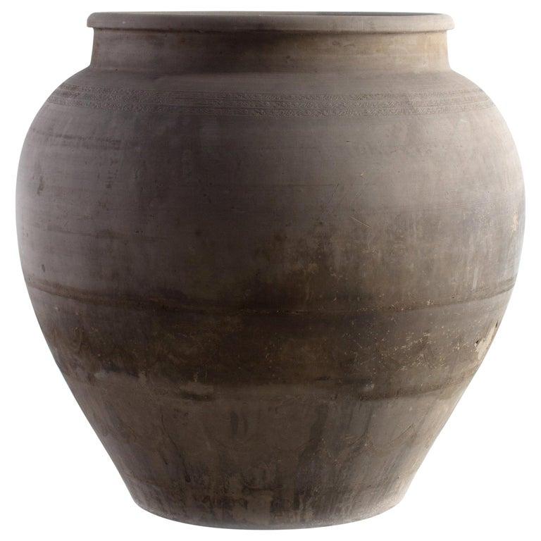 Grande Terracotta Planter Vase For Sale