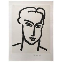 """Grande tete de Katia"" Portrait by Henri Matisse"