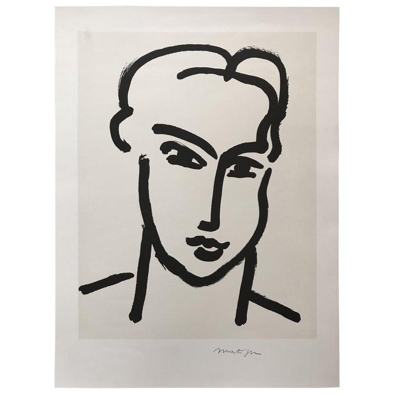 """""""Grande tete de Katia"""" Portrait by Henri Matisse For Sale"""