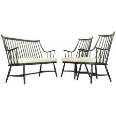 Grandessa Armchairs and Matching Sofa by Lena Larsson for Pastoe, 1959, Set of 3