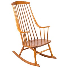 """""""Grandessa"""" Rocking Chair by Lena Larsson, Sweden, 1950s"""