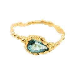 Grandidierite 18 Karat Yellow Gold Ring
