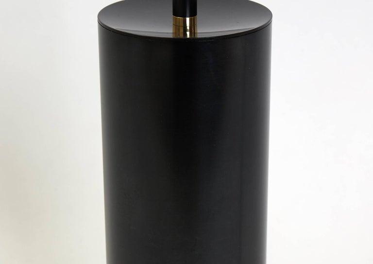 Grandine Black Five Lights contemporary Floor Lamp Blackened Brass Blown Glass For Sale 2
