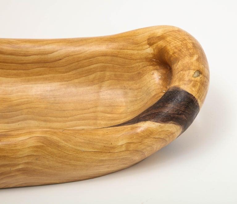 Glazed Grandjean Jourdan Faux Bois Ceramic Bowl For Sale