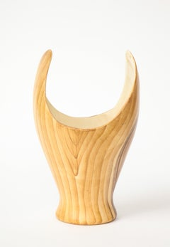 Grandjean Jourdan Faux Bois Ceramic Vase, Vallauris, France, c. 1960s