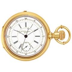 Grandjean Pocket Watch 1833, Silver Dial, Certified and Warranty