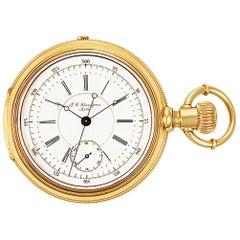 Grandjean Pocket Watch 1833, White Dial, Certified and Warranty