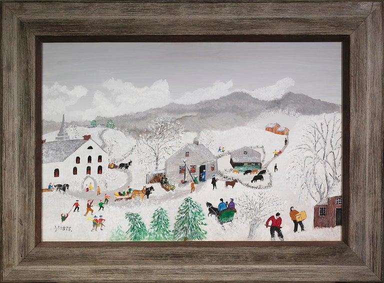 Deep Snow - Painting by Grandma Moses