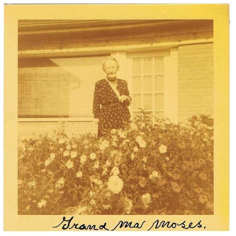 Grandma Moses Vintage 1950s Autographed Color Photograph