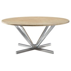 Granite and Chrome Coffee Table