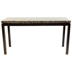 Granite and Wood Console, At. to E. J. Wormley