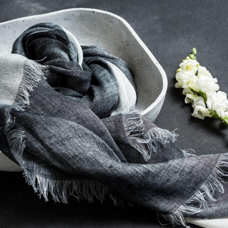 Custom design by Studio Variously, Granite scarf / wrap / shawl is finely handwoven by master artisans in Nepal.  A sustainable design brand based out of Michigan, Studio Variously exclusively collaborates with artisan communities to restore &