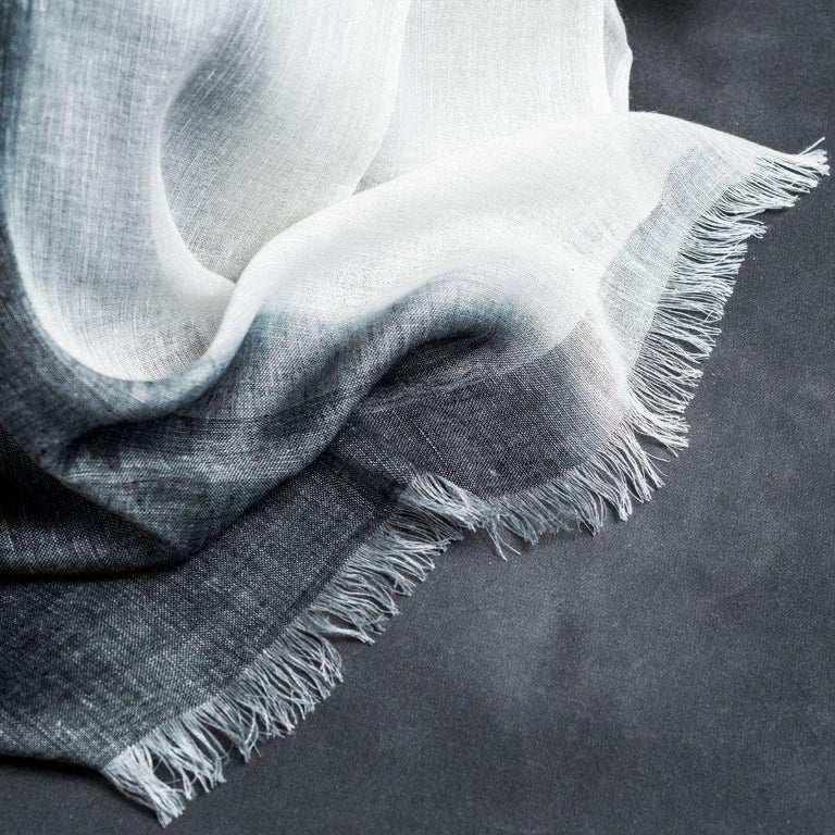 Indian GRANITE Linen Scarf / Wrap / Shawl For Sale