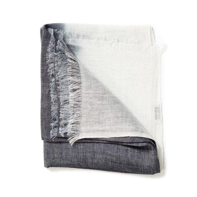 Fabric GRANITE Linen Scarf / Wrap / Shawl For Sale