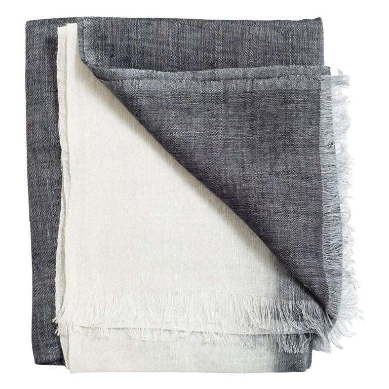 GRANITE Linen Scarf / Wrap / Shawl For Sale