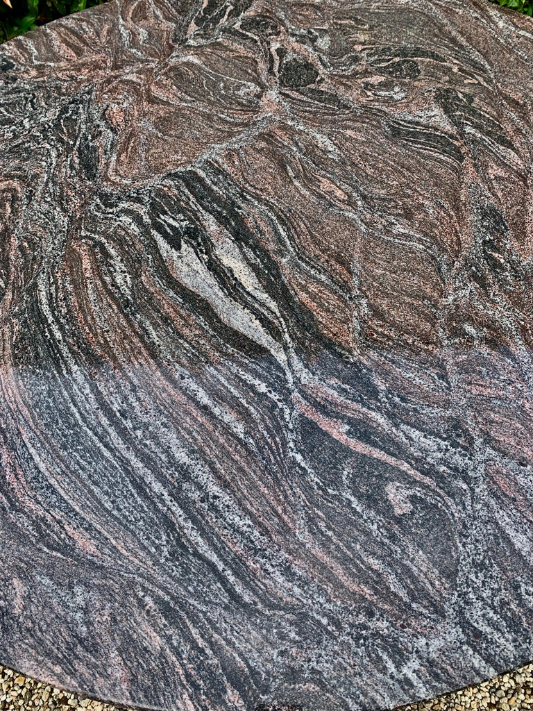 Stone Granite Knife Edge Dining Center Table by Darren Ransdell Design For Sale