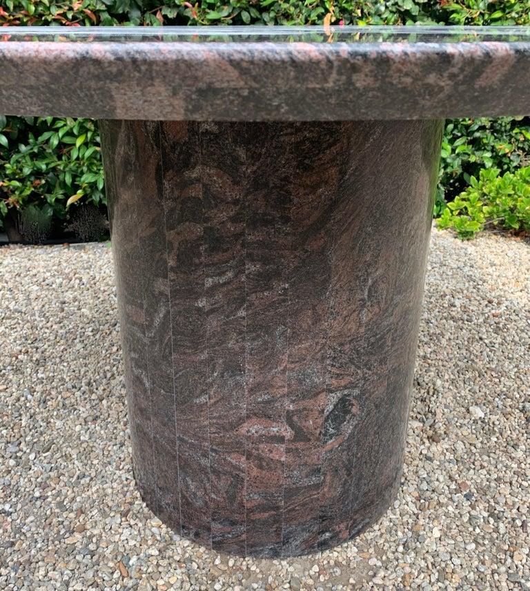Granite Knife Edge Dining Center Table by Darren Ransdell Design For Sale 2