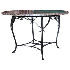 Granite Top Round Dining Table
