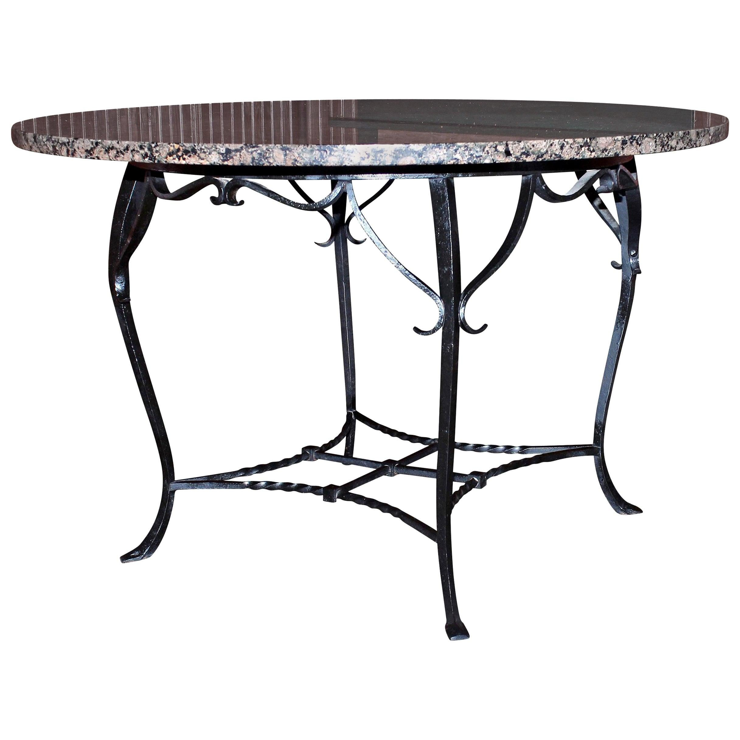 Granite Top Round Table