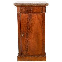 Granite Top Tall Side Pedestal Table