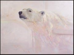 Testing the Polar Air; Wildlife Landscape Oil on Panel