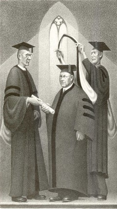 Honorary Degree (Self portrait of Grant Wood receiving an honorary degree)