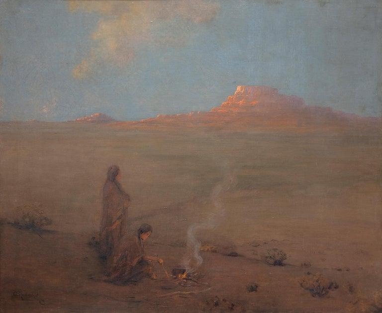 Granville S. Redmond Landscape Painting - The Evening Desert