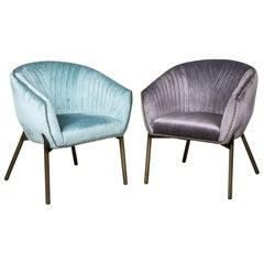Granville Velvet Tub Chair Range, 20th Century