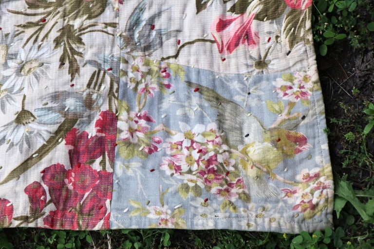 Graphic Antique Tied Quilt For Sale 4
