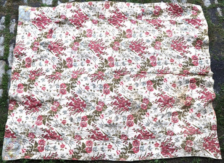 Graphic Antique Tied Quilt For Sale 2
