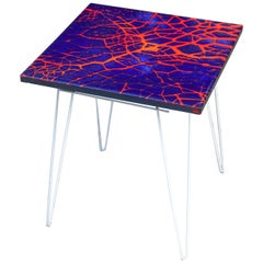 Graphic Blue Red Enamel Side, 1960s