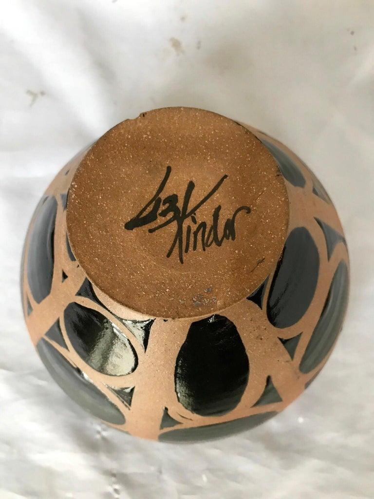 Graphic Ceramic Bowl by Liz Kinder For Sale 2