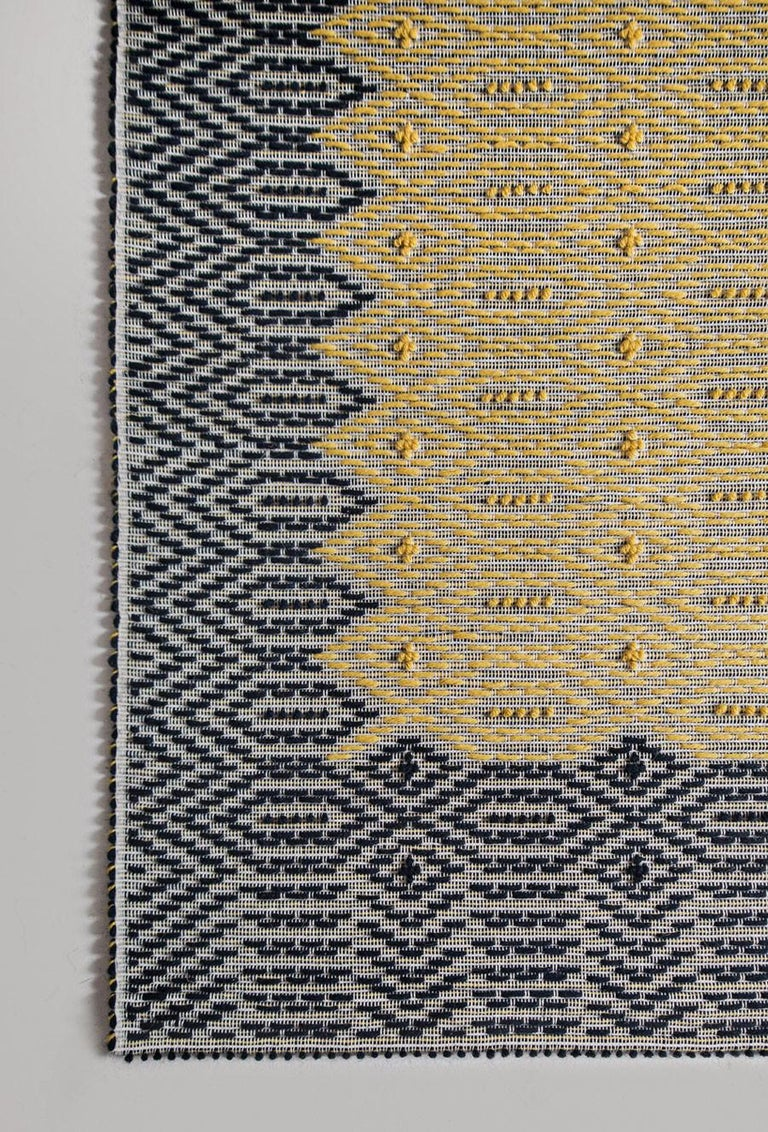 The Heritage collection is an ongoing research project into Classic designs and patterns in Sardinian weaving history. Adapting these designs to today's production capabilities and color schemes, the collection reintroduces traditional, historical
