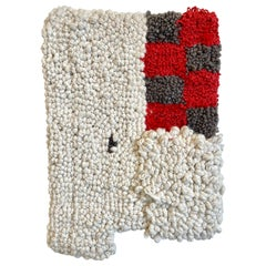 Graphic Hand Tufted Wall Hanging Rug Contemporary Minimalism