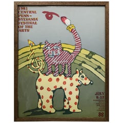 Graphic Poster for the Pensylvania Festival of the Arts by Lanny Sommese