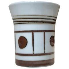 Graphic Scandinavian Porcelain Vase by Bing & Grondahl, 1970s