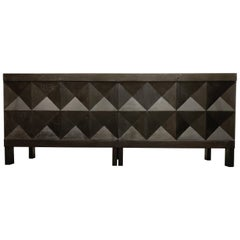 Graphical Brutalist Credenza by Decoene, 1970s