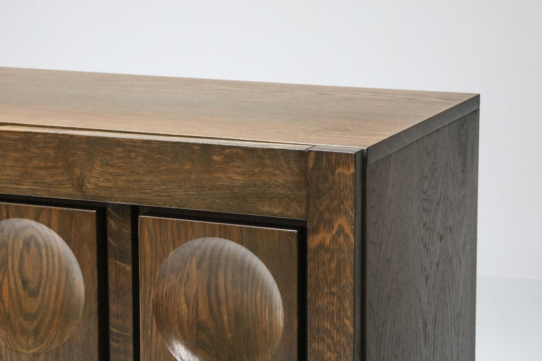 Graphical Sideboard in Oak, Belgium, 1970s For Sale 4