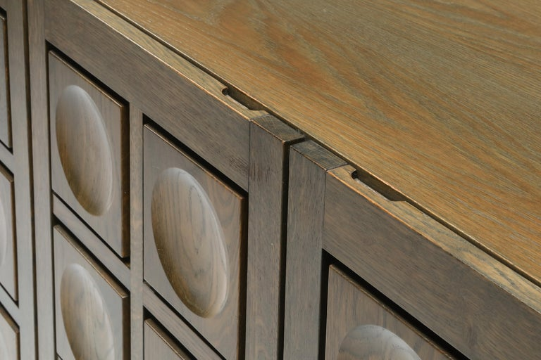 Graphical Sideboard in Oak, Belgium, 1970s For Sale 5