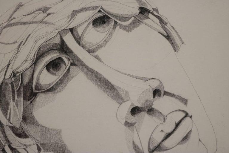 American Graphite Portrait Illustration by Walter Peregoy