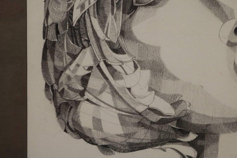 20th Century Graphite Portrait Illustration by Walter Peregoy