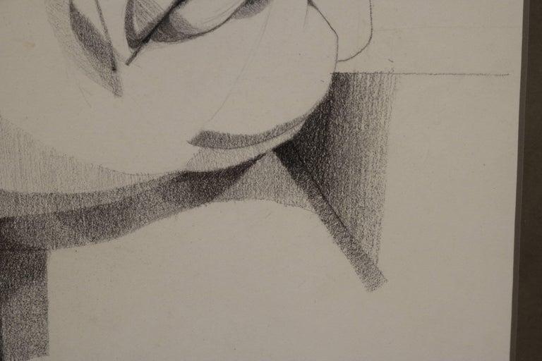 Paper Graphite Portrait Illustration by Walter Peregoy