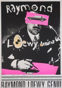 """Raymond Loewy dessine la Studebaker"" Original Vintage Design Exhibition Poster"
