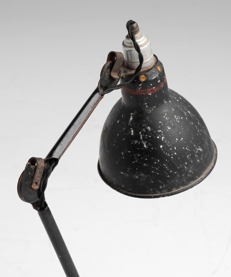 Gras Lamp No. 205, France, circa 1930 In Good Condition For Sale In Culver City, CA