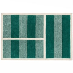 Grass Court Rug Hand Tufted in Wool and Viscose Blend